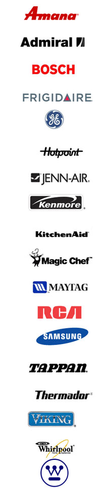 Appliance brands repaired by All City Appliance Repair
